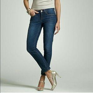 J Crew Toothpick Ankle Jeans Medium Wash